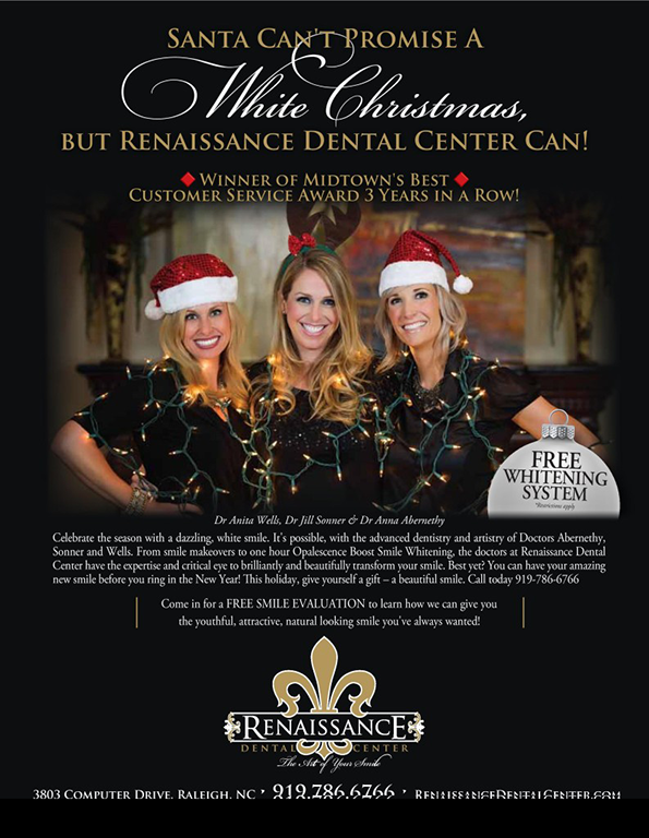 Santa can't promise you a white Christmas, but Renaissance Dental Center can!
